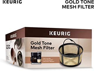 Keurig Reusable Mesh Ground Coffee Filter, Compatible with K-Duo Essentials and K-Duo Brewers only, Eco-Friendly Way to Brew a Carafe, Gold Tone Mesh