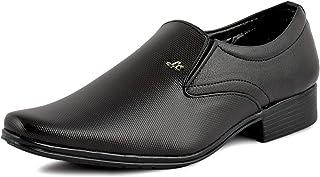 HANIIY Mens Black Fine Synthetic Formal Shoe