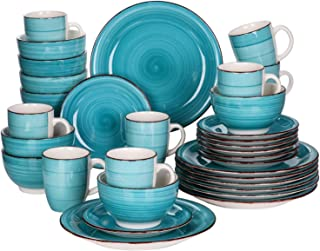 Dinnerware Sets 16/32 قطعة من الخزف العشاء مجموعة خمر السيراميك لوحة مجموعة مع لوحة العشاء، لوحة الحلوى، وعاء، مجموعة القد...