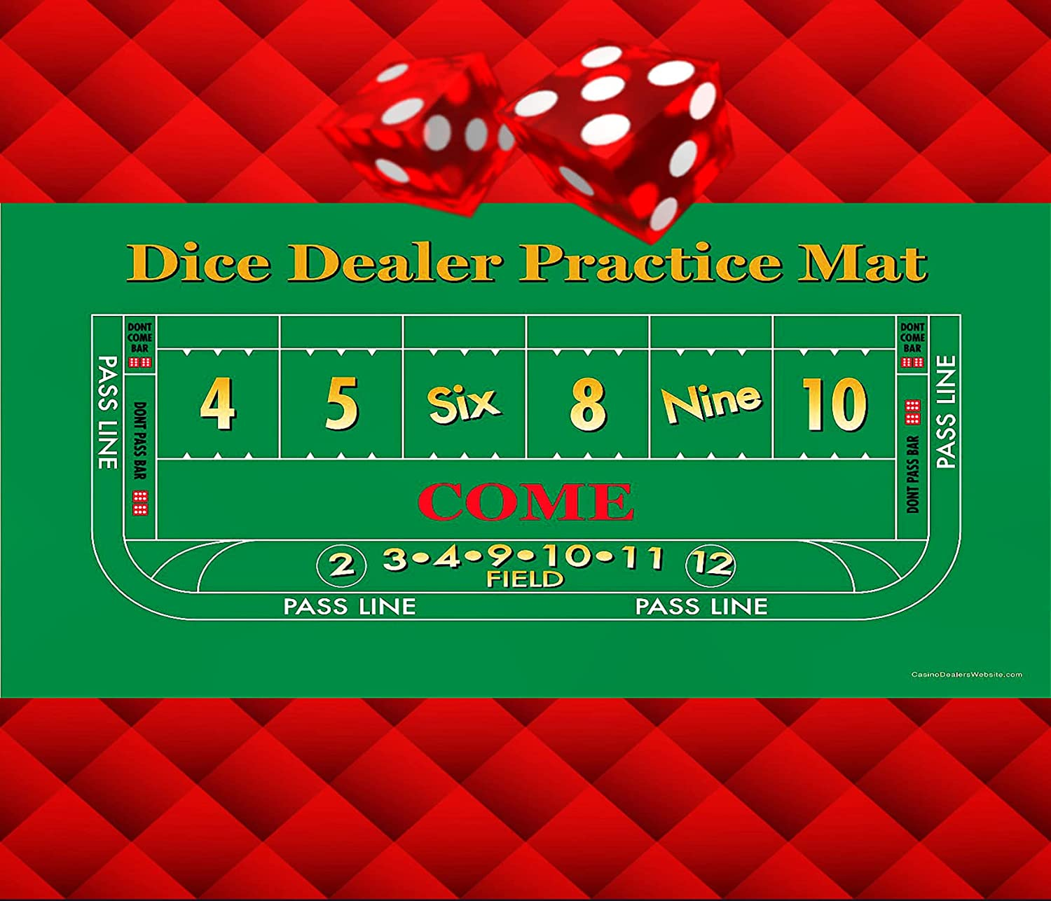 Dice Dealer Practice Mat お見舞い - Roll-up Quality 28