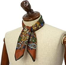 [Fumagalli 【フマガリ/フマガッリ】]スカーフ/ネッカチーフ GARDA 605 2 コットン シルク 総柄 テラコッタ