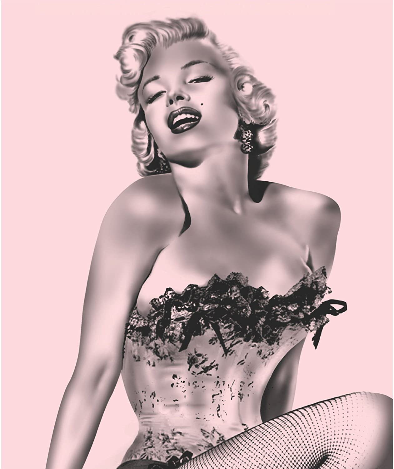 Brand New Marilyn Monroe Pink Fishnet Queen Size Blanket [Baby Product]