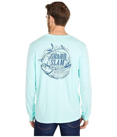 Vineyard Vines Long Sleeve Grand Slam Squad T-Shirt (Blue Fin) Men