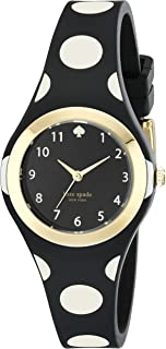 kate spade new york Goldtone Rumsey Black and White Polka Dot Silicone Watch