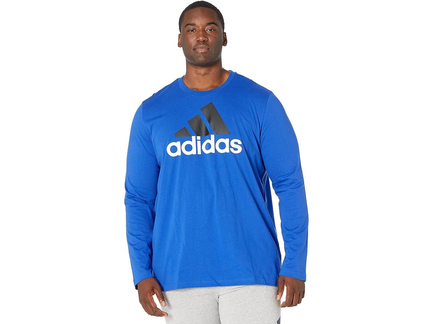 Adidas Big & Tall Big Logo Single Jersey Long Sleeve Tee