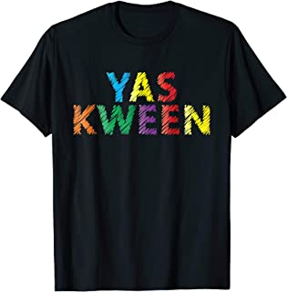 3cd7a6d68d Yaw kween yas queen funny gay pride lgbt t-shirt