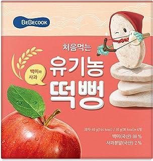BeBecook My First Organic Rice Rusk Jumbo Box, Apple
