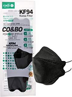 [Pack of 10] CO&BO Well-Being Hygiene KF94 Face Masks WK-950 Black [Individually Packaged] - Made In Korea