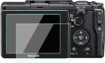 GRII Screen Protector Glass Compatible for Ricoh GR II, WH1916 Tempered Glass Film Cover Bubble-Free Anti-Scratch(2 Pack)