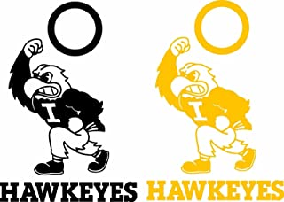 Iowa Hawkeyes Cornhole Set of 6 Vinyl Decal Stickers Herky Bean Bag