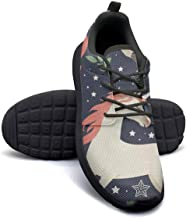 Striped Vintage Boho Fashion Walking Shoes for Women Lo-Top Highly Breathable Run Shoes