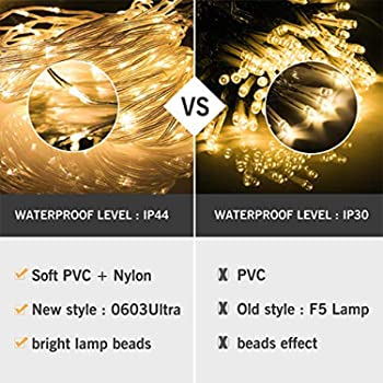 Kohree LED Curtain Lights, Hanging Wedding Light Remote Control Outdoor Indoor Icicle Flashing String Lights for Bedr...