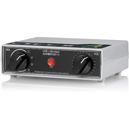 Conmutador analógico RCA estéreo de 4 vías, conmutador manual