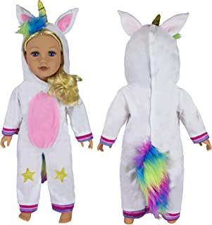 Foothill Toy Co. Limited Edition Unicorn Costume - Unicorn Outfit for 18 Inch Dolls, Fits American Girl & Other Popular Brands