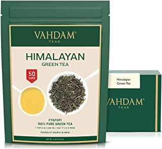 VAHDAM, Himalayan Green Tea Leaves (50+ Cups) I 100% NATURAL Green Tea I POWERFUL ANTIOXIDANTS I Best for Detox I Kombucha...