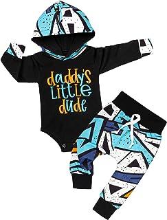 Baby Boy Clothes Stripe Letter Print Hoodies+Long Camouflage Pants 2PCS Outfits Set