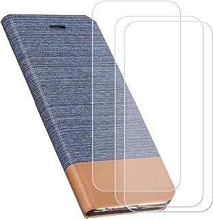 YZKJ Skydd för AGM X2 (5,5 tum) fodral [3 delar] pansarglas skyddande film flip PU läderfodral mobiltelefonfodral plånbok ...