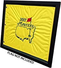 Golf Flag Frames Compact Black, Moulding blk-007, Reversible Green-Black Mat (holds 13x17 Masters Golf Flags; flag Not Incl)