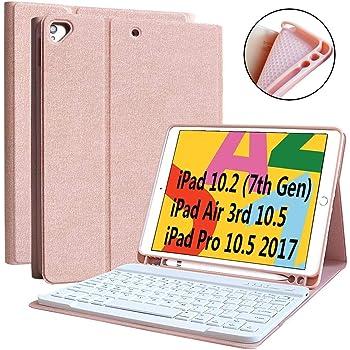 Rose Teclado para iPad Air 2//1//9.7//2018//2017 con Teclado Bluetooth Espa/ñol Inal/ámbrico,Funda para iPad con Teclado Desmontable BAIBAO Funda Teclado para iPad 2018