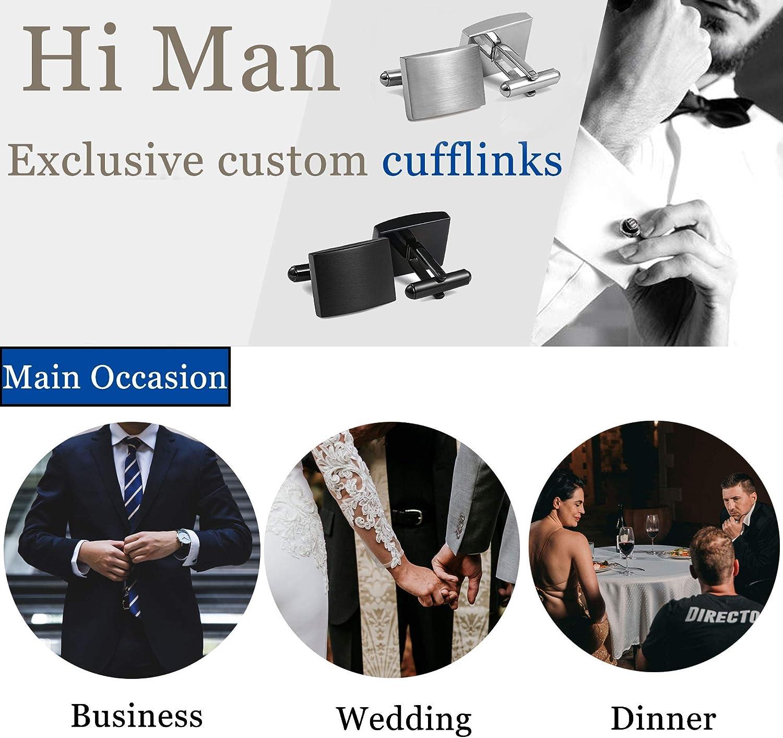 FIBO STEEL Stainless Steel Classic Cufflinks for Men Wedding Business