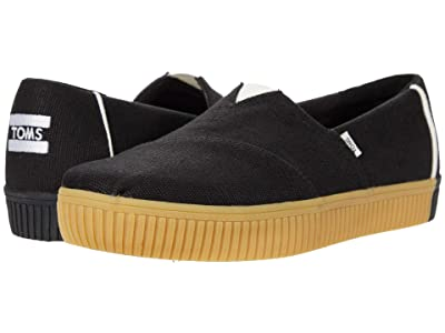 TOMS Alpargata Indio (Black Heritage Canvas) Women