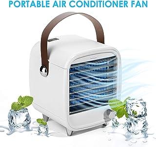 Alioth Enfriador de Aire portátil, Mini Ventilador de Aire Acondicionado Personal, Enfriador de Aire evaporativo silencioso y humidificador, Ventilador de enfriamiento de Escritorio con luz LED