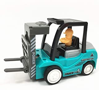 Boy's Favorite Push and Go Friction Powered Car Toys Set, No battery need, Go far- Tractor Bulldozer Mixer Truck and Dumpe...