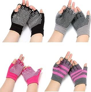 HaveDream Non Slip Yoga gloves for Women, Toeless Anti-skid Pilates, Barre, Ballet, Bikram Workout gloves