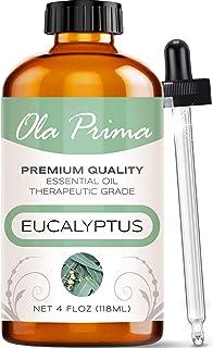 Ola Prima 4oz - Premium Quality Eucalyptus Essential Oil (4 Ounce Bottle) Therapeutic Grade Eucalyptus Oil