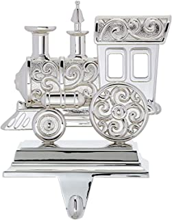 Lenox Silver Train Stocking Holder Silver plated metal. Heavy 7