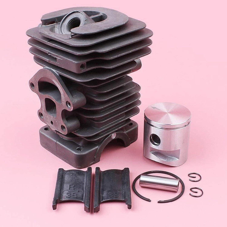 Juego completo de anillo de pistón de 39 mm con anillo de pistón, piezas de primera clase para HUSQVARNA 235, 236, 236E, 240, 240E, repuestos para motosierra, piezas de alta calidad 545050417 Eficient