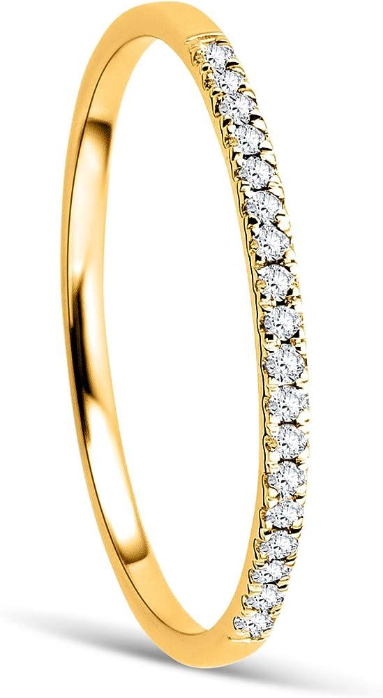 Orovi anello per donna eternity/veretta in oro giallo in oro 9 kt / 375(0,74 g) con diamanti 0,87 ct OR8997R52