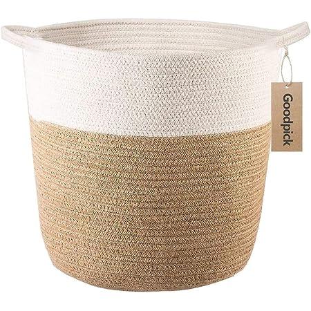Goodpick Panier à linge en corde de coton