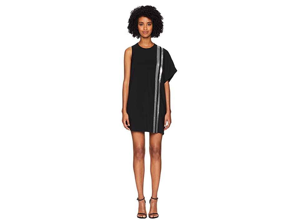 Neil Barrett One Side Fall Away Dress (Black/Silver) Women