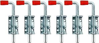 Homend 6 Pack Metal Lock Barrel Bolt Spring Loaded Locking Latch 6.5