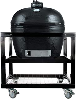 Primo Oval XL 400 Ceramic Smoker Grill On Cart without Side Tables