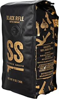 Black Rifle Coffee Company Silencer Smooth Light Roast Whole Bean Coffee, 12 Ounce Bag