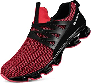 Biacolum Mens Fashion Sneakers Mesh Athletic Blade Outsole Breathable Running Shoes