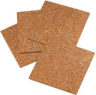 "Quartet Cork Tiles, Cork Board, 12"" x 12"", Corkboard, Wall Bulletin Boards, Natural, 4 Pack (102)"