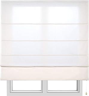 Estores Basic, Stor plegable con varillas, Crudo, 175x175cm, estores para ventana, estores plegables.