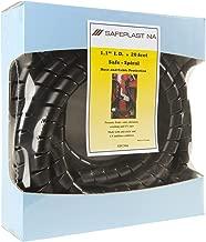 Pre-Cut Spiral Wrap Hose Protector, 1.25 OD, 20' Length, Black