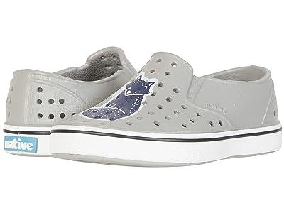 Native Kids Shoes Miles Print (Toddler/Little Kid) (Pigeon Grey/Shell White/Vaesen) Kids Shoes