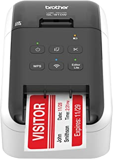 Brother RQL-810W- (QL-810W) Ultra-Fast Label Printer with Wireless Networking White (Renewed)