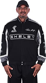 Shelby Logo Embroidered Twill Jacket - Cotton Winter Jacket for Men