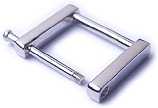 Bobeey 4pcs Rectangular Buckles for Purses Making,Screw Rings Buckles Strap Connector Purse Hardware Bag Loop BBC7 (3/4'',...