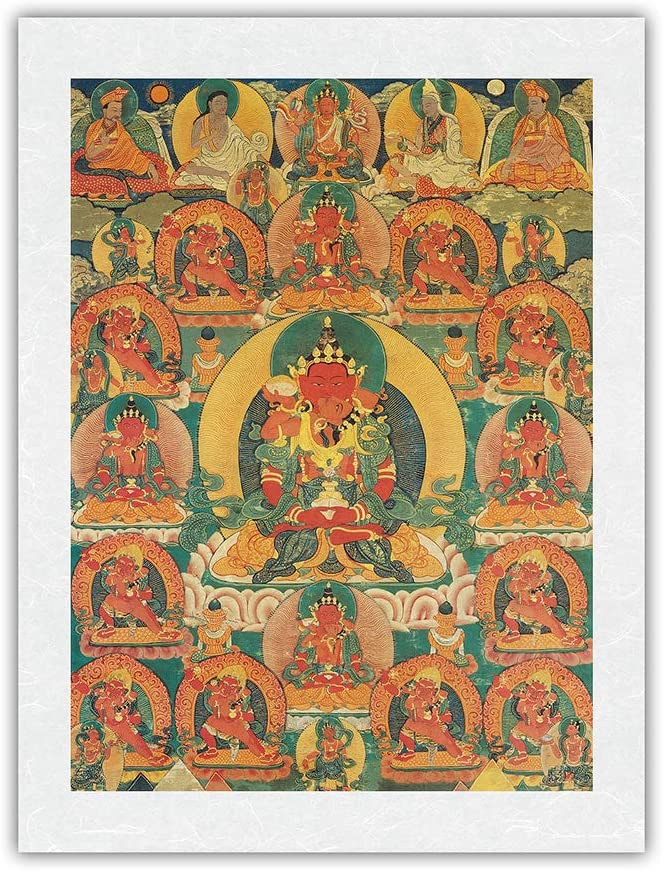 San Diego Mall Amitayus - The Lord of Tibetan Life Thangka Vintage Selling and selling Limitless