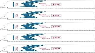 EZARC レシプロソー替刃 セーバーソーブレード 全長300mm 14山 重切削 鉄・ステンレス・非鉄金属用 替刃 R1226PM+ (5本入)