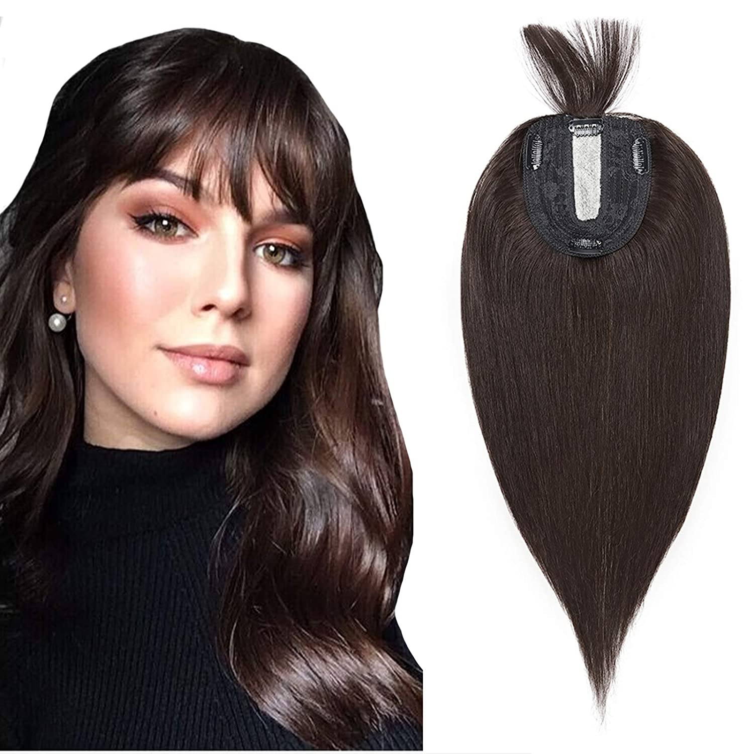 Hair Toppers shopping With Bangs Milwaukee Mall Human Clip Wome Crown Topper For In