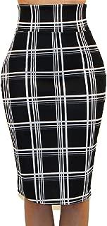 Women's USA High Waist Band Bodycon Career Office Midi Pencil Skirt