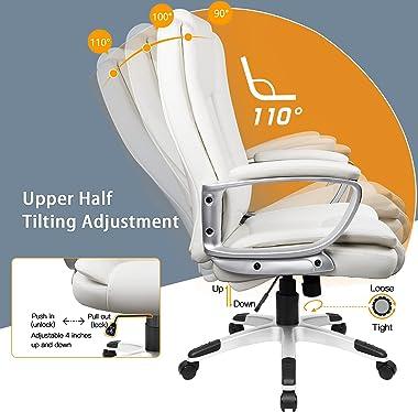 OFIKA Home Office Chair, Comfortable Heavy Duty Design, Ergonomic High Back Cushion Lumbar Back Support, Computer Desk Chair,